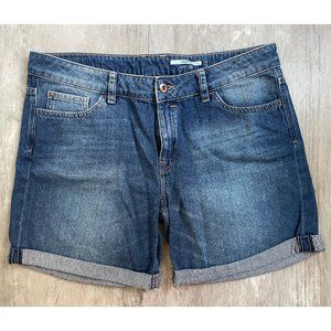 6 inch jeans shorts by edc, roll-up, waist: 29